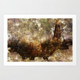 Grunge Dynamics 039 C130 Hercules Art Print