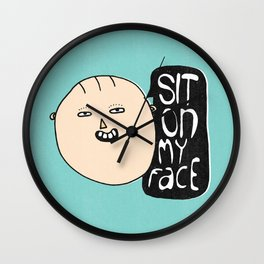 Cheeky Prints.  Wall Clock