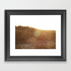 Montauk Sand Dune Sunflare Framed Art Print