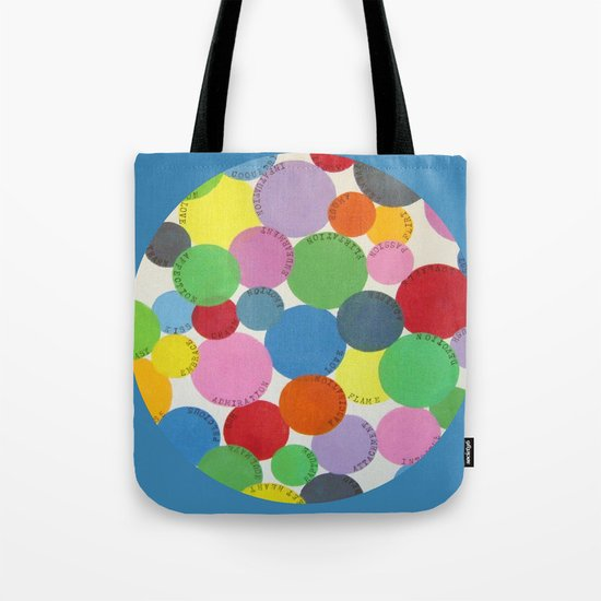 Word Bubbles Blue Tote Bag