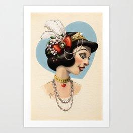 Tribal Princess Snow White Art Print