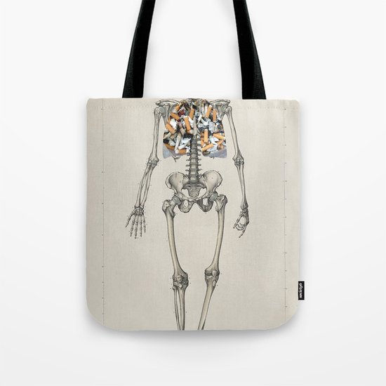 Skeletons Smoking Tote Bag