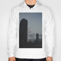 dallas Hoodies featuring Dallas Nightline by Kaartik Gupta
