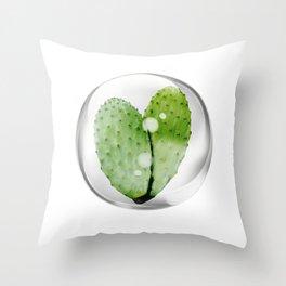 cactus shaped heart Throw Pillow