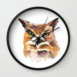 Owl Watercolor Wall Clock