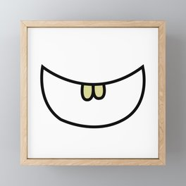 Smile 2 Two teeth  Framed Mini Art Print