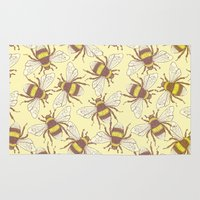 bees Area & Throw Rugs featuring Bees! by Good Sense