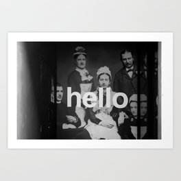 """hello"" Art Print"