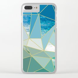 Ocean Wave Exposed Clear iPhone Case