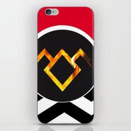 Owl Cave Symbol (Black Lodge Background) iPhone Skin