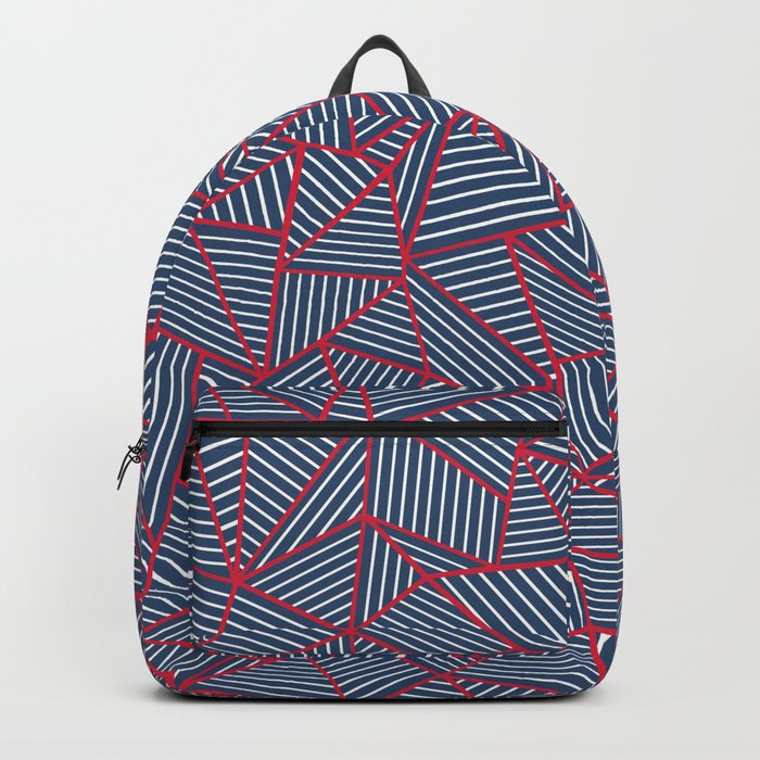 Ab Out Navy Red Backpack