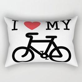 I Love My Bike Rectangular Pillow