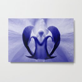 The Orchid Fairy - Blue Metal Print