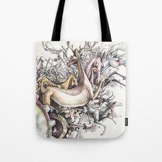 Twisted Menagerie Tote Bag