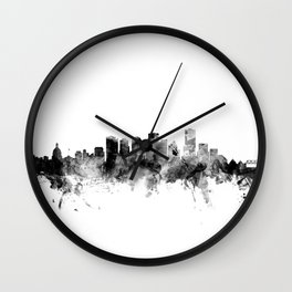 Edmonton Canada Skyline Wall Clock