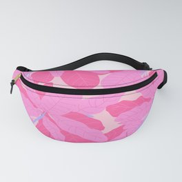 Tropicana Banana Leaves in Preppy Pink + Purple Fanny Pack