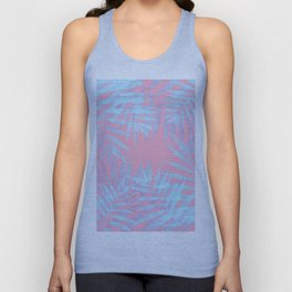 Pink and Blue Tropicana Unisex Tank Top
