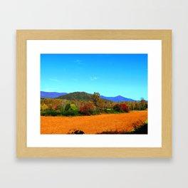 October Crop Framed Art Print