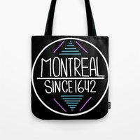 montreal Tote Bags featuring Montreal by Aurelie