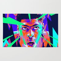 nba Area & Throw Rugs featuring Anthony Davis Nba illu V3 by mergedvisible