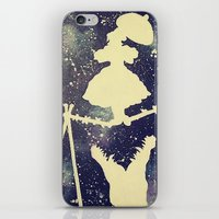 haunted mansion iPhone & iPod Skins featuring Haunted by Kayleigh Kirkpatrick