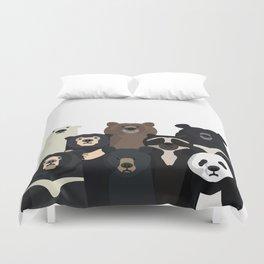 Bear family portrait Duvet Cover
