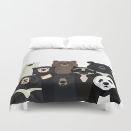 Bear family portrait Duvet Cover