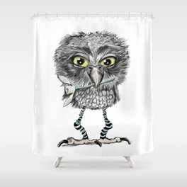 Owl with snowdrop Shower Curtain