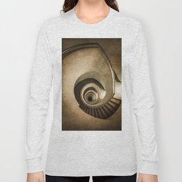 Spiral staircase in brown tones Long Sleeve T-shirt