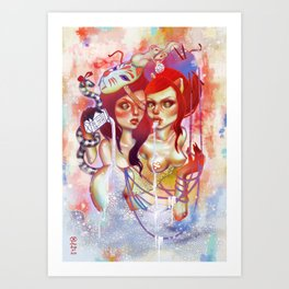 Siamese Cream Art Print