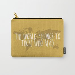 The World Belongs to Those Who Read (Yellow) Carry-All Pouch