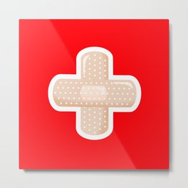 First Aid Plaster Metal Print