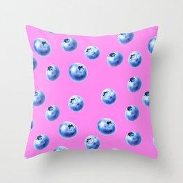 blueberry pink Throw Pillow