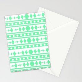 Mint Tribal Pattern Stationery Cards
