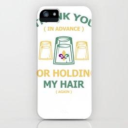 Funny Mardi Gras Image Gift Design iPhone Case