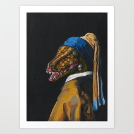 The Clever Girl with a Pearl Earring Art Print