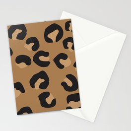 Tan and Black Large Leopard Print Stationery Cards