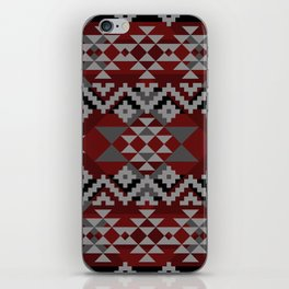 Red Aztec iPhone Skin