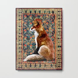 The Fox King - Turkish Carpet Metal Print
