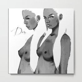 Dos. Vector Metal Print