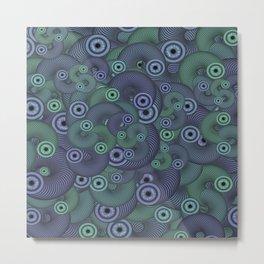 Slinky Eyes Metal Print