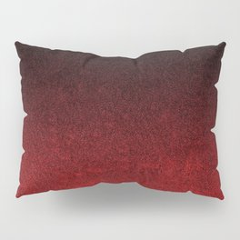 Red & Black Glitter Gradient Pillow Sham