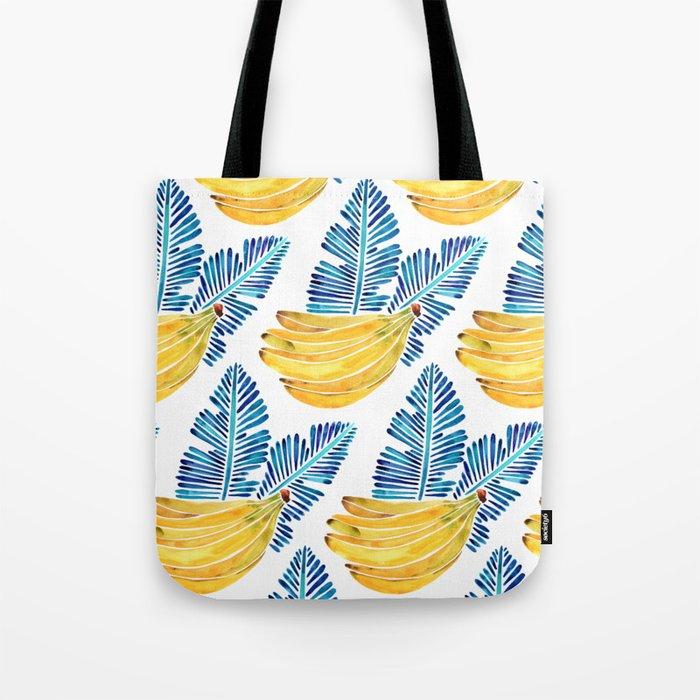 Banana Bunch – Navy Leaves Tote Bag