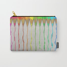 Melting Rainbow Pencils Carry-All Pouch