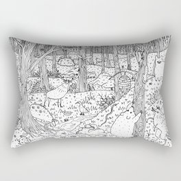 Diurnal Animals of the Forest Rectangular Pillow