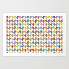 Houndstooth!  Art Print
