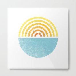 Vinyl Sunset Metal Print