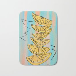 A Stack of Lemon Slices - Modern Bath Mat