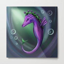Blueberry sea horse Metal Print