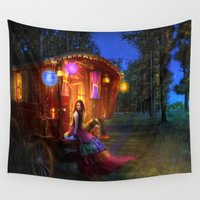 wanderlust Wall Tapestries featuring Wanderlust by Aimee Stewart